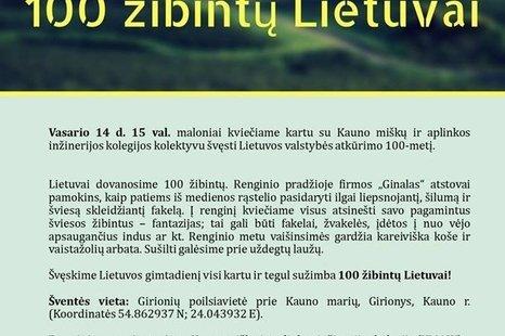 100 žibintų Lietuvai