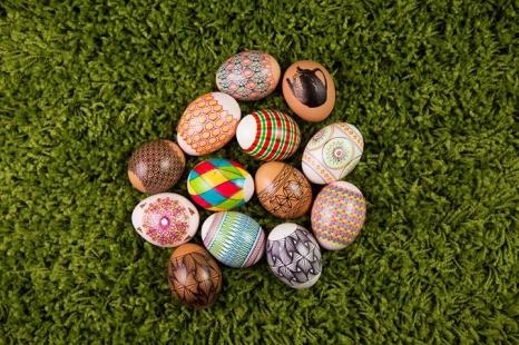 Kiaušinių marginimas vašku