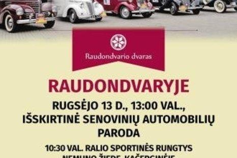 Išskirtinė senovinių automobilių paroda
