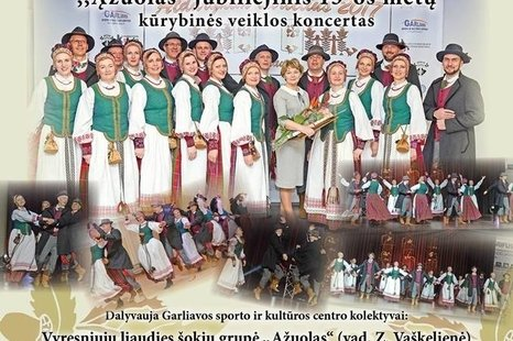 """Kolektyvo """"Ąžuolas"""" 15 metų jubiliejinis koncertas"""