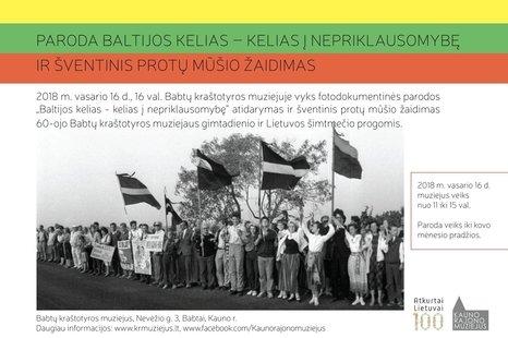 """Paroda """"Baltijos kelias-kelias į Nepriklausomybę"""" ir šventinis protų mūšio žaidimas"""