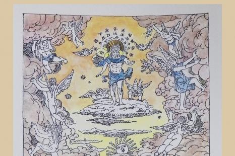 "Giorgio de Chirico ""Šv. Jono apokalipsė"""