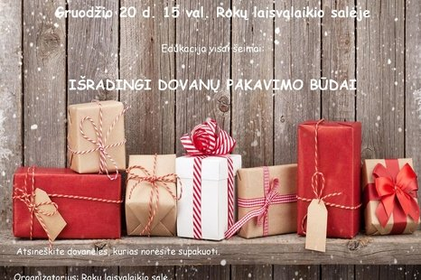Išradingi dovanų pakavimo būdai