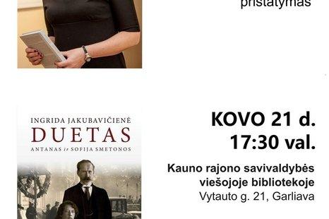 """Knygos """"Duetas Antanas ir Sofija Smetonos"""" pristatymas"""