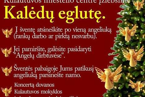 Kalėdų eglutės įžiebimas Kulautuvoje