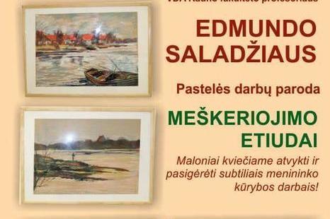 """Edmundo Saladžiaus pastelės darbų paroda """"Meškeriojimo etiudai"""""""