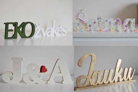 Pastatomų raidžių ir užrašų dekoravimo dirbtuvė