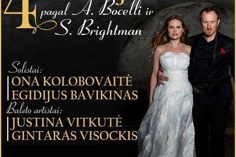 "Koncertas ""4 istorijos"" pagal A. Bocelli ir S. Brightman"