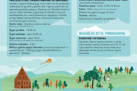Pasaulinės turizmo dienos renginiai Kauno rajone