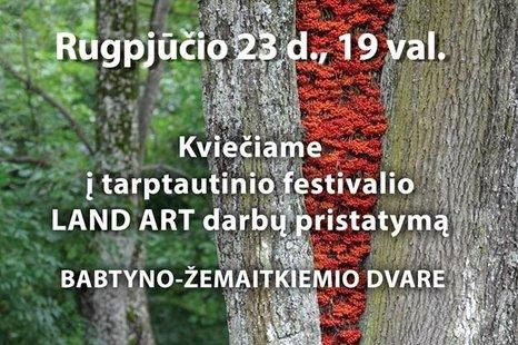 """Tarptautinio festivalio """"LAND ART"""" darbų pristatymas"""
