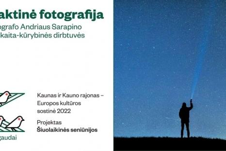 Naktinė fotografija: Fotografo Andriaus Sarapino paskaita- kūrybinės dirbtuvės