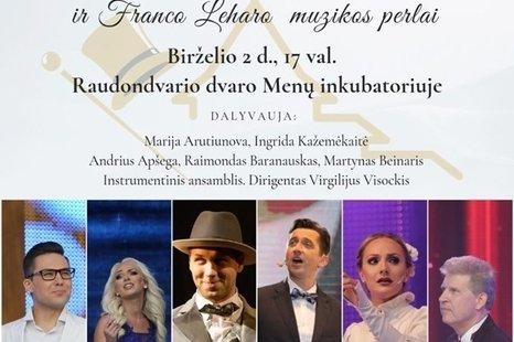 Operetės karalių Imrės Kalmano ir Franco Leharo muzikos perlai