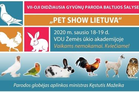 """VII-oji didžiausia gyvūnų paroda """"Pet show Lietuva"""""""