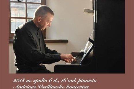 """Pianisto Andriaus Vasiliausko koncertas """"Rudens sonata"""""""