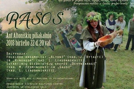 """Vasaros saulėgrįžos šventė """"Rasos ant Altoniškių piliakalnio"""""""
