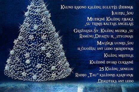 """Kalėdinės eglutės įžiebimo renginys """"Ledo ir ugnies kova Raudondvario dvare"""""""