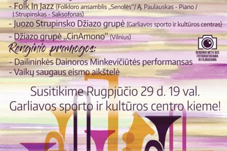 """Atsisveikinimo su vasara koncertas """"Sezono džiazas"""
