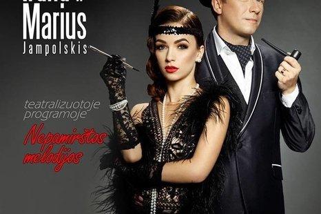 """Irūnos ir Mariaus Jampolskio koncertas """"A. Šabaniausko ir D. Dolskio dainos"""""""