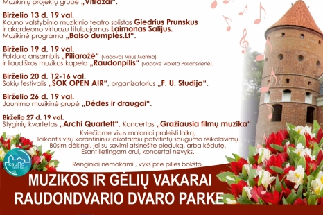 Muzikos ir gėlių vakarai Raudondvario dvaro parke